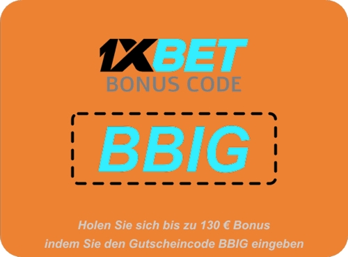 1xBet Mobile Gutscheincode Illustration in groß
