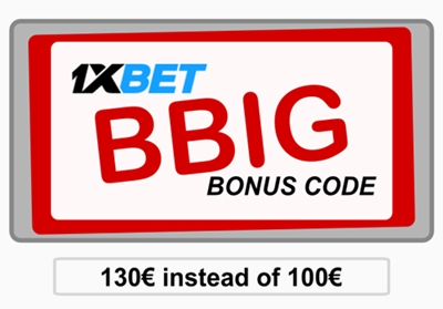 Illustration of Free 1xbet coupon in big format