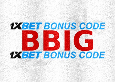 Illustration of 1xbet welcome bonus in big format