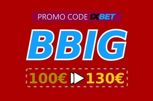 Illustration of 1xbet casino bonus codes in big format
