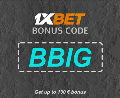 Illustration of 1xbet promo code in big format