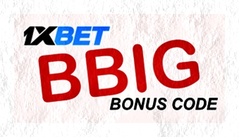 Illustration of 1xbet bonus on player account in big format