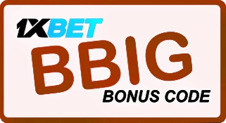 Illustration of 1xbet activation code in big format