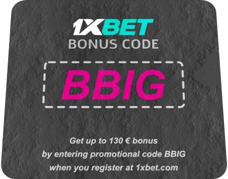 Illustration of 1xbet promo code freebet in big format