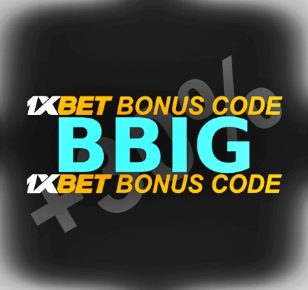 Illustration of 1xbet coupon code in big format