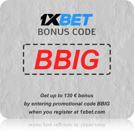 Illustration of 1xbet Cameroun promo code in big format