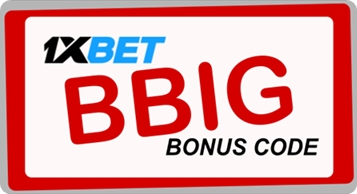 Illustration of 1xbet enter promo code in big format