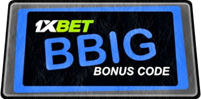 Illustration of Promo code at 1xbet from Sierra Leone in big format