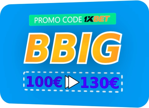 Illustration of 1xbet gift promo code in big format