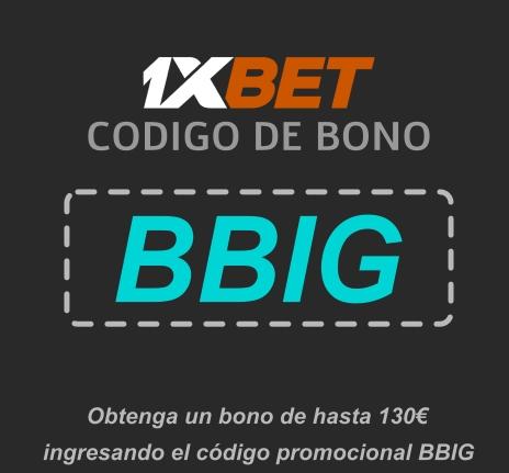 Ilustración de 1xbet código promocional free bet en grande