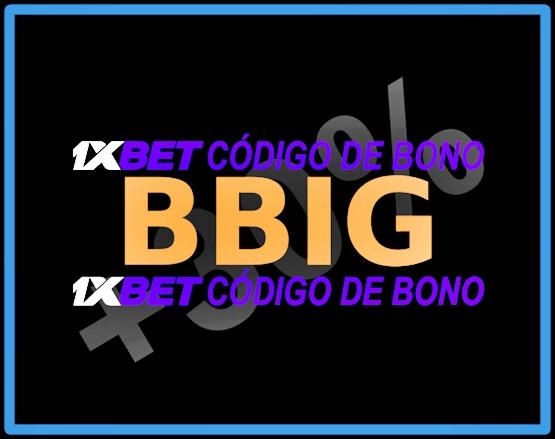 Ilustración de código de cupón 1xbet Bolivia en grande