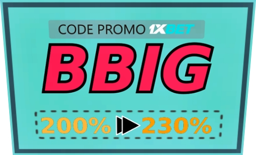 Illustration de code promo 1xbet du jour en grand