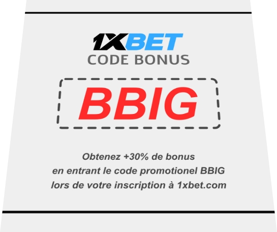 Illustration de code promo 1xbet Cameroun en grand