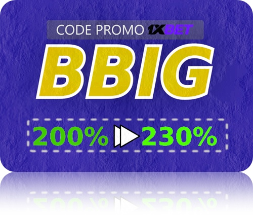 Illustration de code promotionnel 1xbet.com en grand