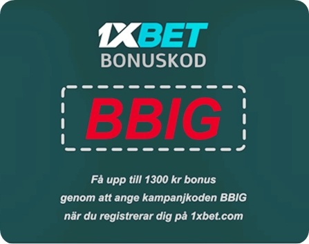 1xbet promo kod 2019 illustration i stort