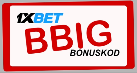 1xbet free bet kod illustration i stort