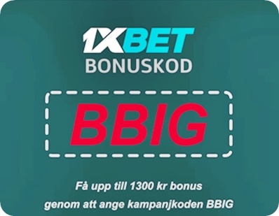 1xbet kupongkod no deposit illustration i stort